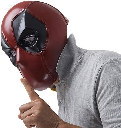 Felices compras QWEASZER X-Men X-Men X-Men Deadpool máscara Facial Completa Casco de PVC, película Cosplay Accesorios del Traje, máscara de Halloween Casco de la Cabeza para hombres Adultos Vestido, rojo-5662cm  de moda