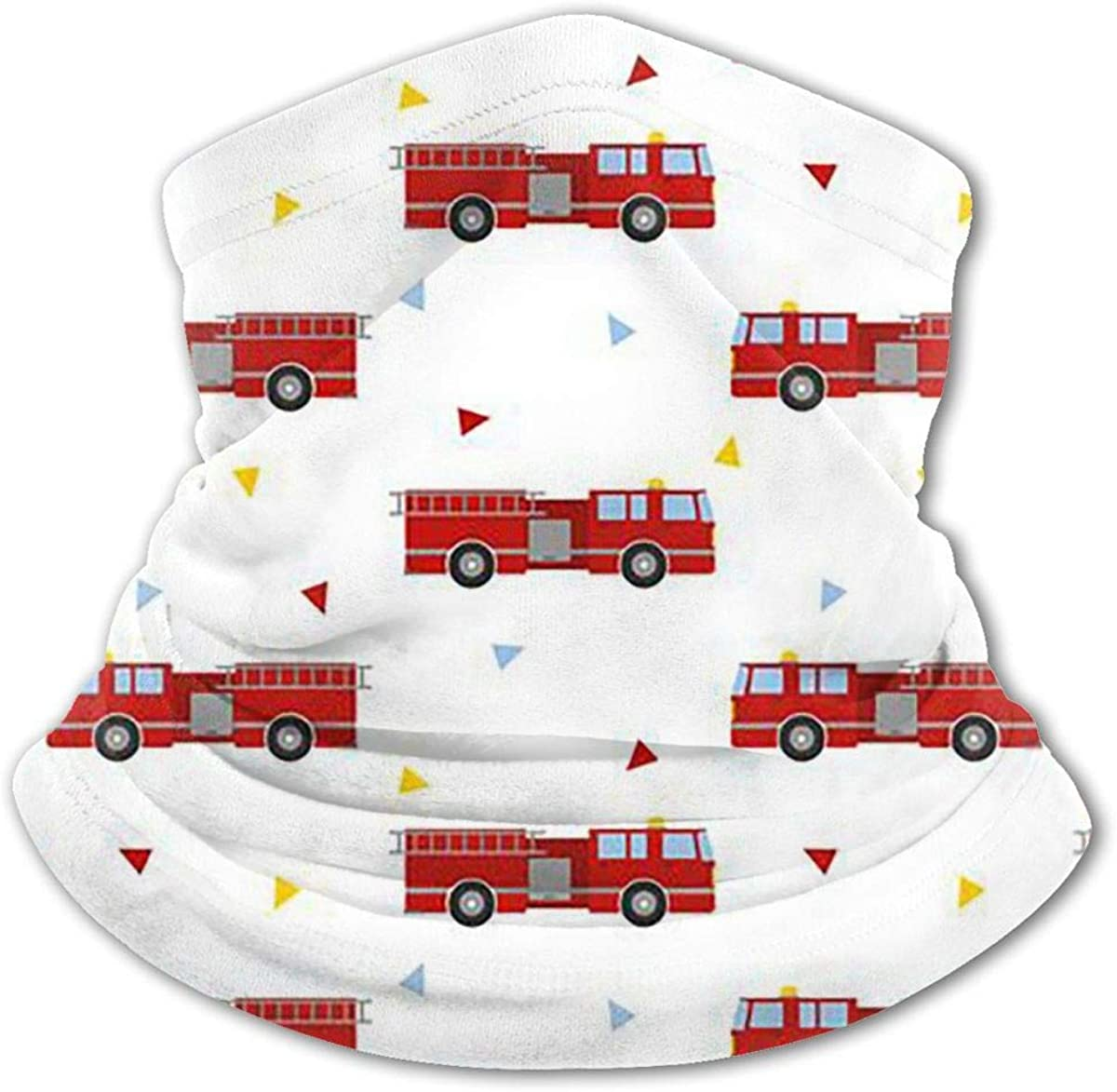 Fire Truck Headwear For Girls And Boys, Head Wrap, Neck Gaiter, Headband, Tenn Fishing Mask, Magic Scarf, Tube Mask, Face Bandana Mask For Camping Running Cycling