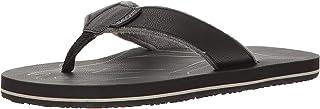 Scott Hawaii Men's Papio Vegan Leather Sandals | Soft Terrycloth Lined Flip Flops | Cozy Beach Sandal