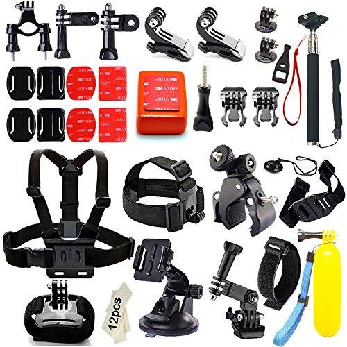 Iextreme Kit de accesorios 45-en-1 para cámara deportiva GoPro Hero...