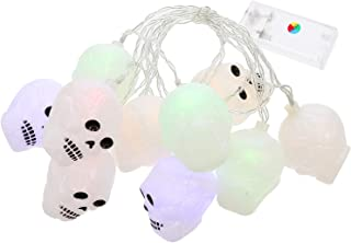 KESYOO 1 Set Halloween LED Lamp String Night Lamps Party Decors Without Battery (White)