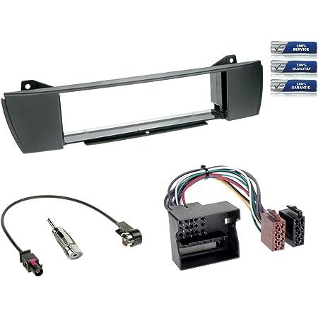 Carmedio Bmw Z4 E85 03 08 1 Din Autoradio Einbauset In Original Plug Play Qualität Mit Antennenadapter Radioanschlusskabel Zubehör Und Radioblende Einbaurahmen Anthrazit Navigation