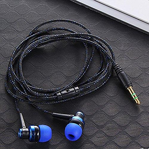 Ganquer Audífonos estéreo intraurales, Azul, Tamaño Libre