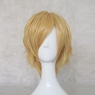 New Maid Sama! Usui Takumi Golden Short Party Hair Cosplay Anime Costume Wig + Free Wig Cap