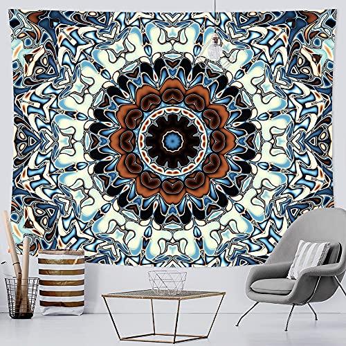 PPOU Mandala decoración del hogar Tapiz Tela de Fondo Hippie Estilo Bohemio Colgante de Pared Escena psicodélica Tela Colgante A4 180x200cm