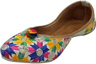Stop N Style Punjabi Jutti for Women Flat Flipflops Indian Shoes Khussa Pakistani Juti