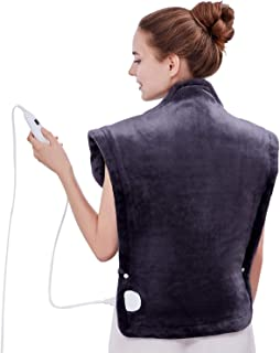 Utaxo Heating Pad Wrap, for Neck Shoulders Whole Back Pain Relief, Soothing Muscle Pain..