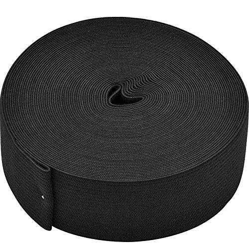 eBoot Elastic Spool (1.5 Inch x 11 Yard, Black)