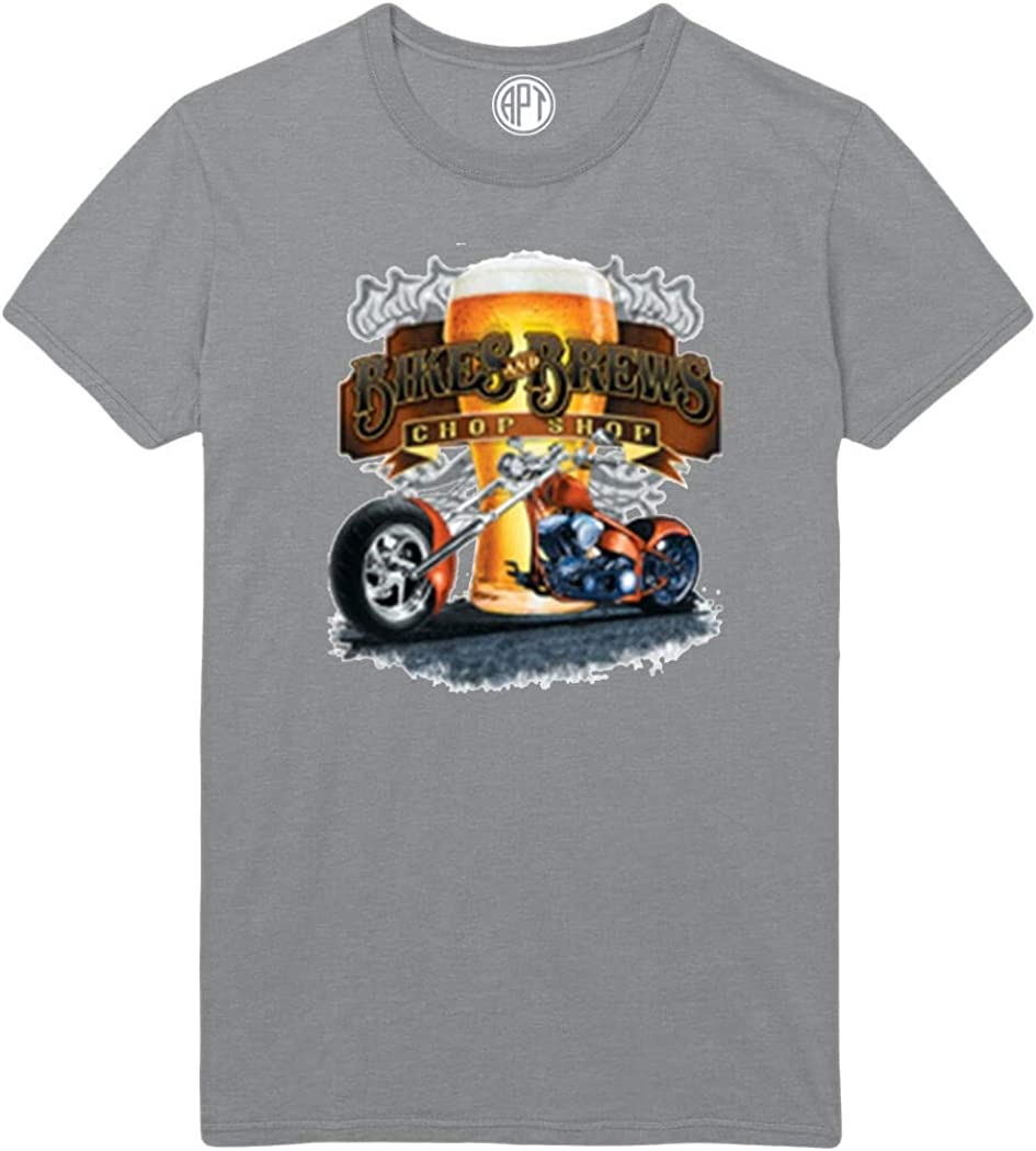 Bikes and Brews Chop Shop Printed T-Shirt