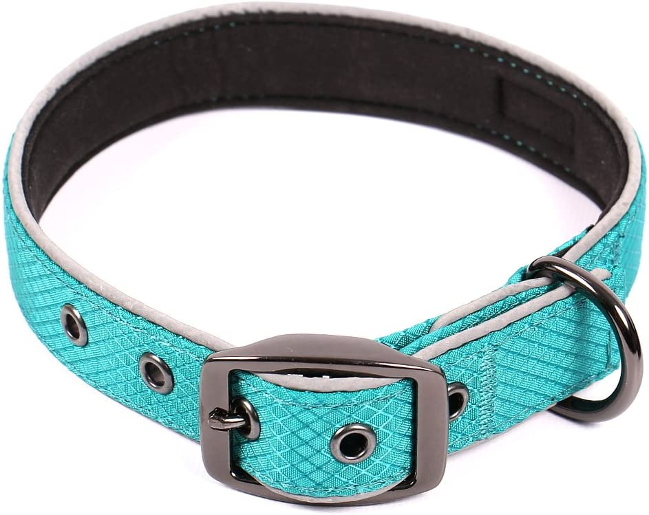 Max and Neo Glacier Reflective Neoprene Metal Buckle Dog Collar - We Donate a Collar to a Dog Rescue for Every Collar Sold