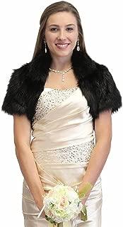 Faux Fox Fur Bridal Bolero Crop Jacket