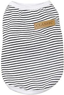 2de5b7f31f4fe1 Pet Shirt Wakeu Puppy Cat Classic Vest Striped T-Shirt Pet Summer Apparel  Dog Clothes