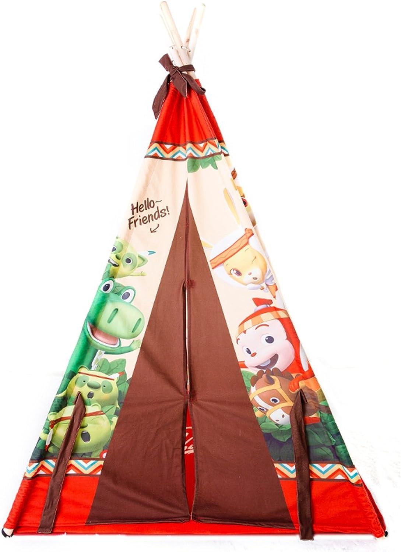auténtico Jun Tienda de Juegos Juegos Juegos para Niños Casa de Juguete Juego de triángulo de Tela Casa Fácil de Lavar (Marrón 41.3  41.3  65.0 Pulgadas Embalaje de 1)  centro comercial de moda