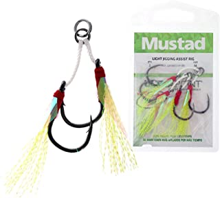 Mustad Light Jigging Assist Rig L Fishing Terminal Tackle (2 Pack), Multicolor, Size 1/0
