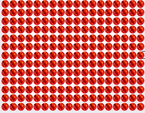 234 Strasssteine selbstklebend Glitzersteine zum Aufkleben rund Glitzer Aufkleber 5mm groß rot