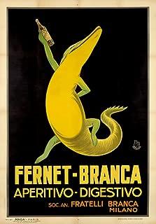 Fernet - Branca - France c. 1932 - Vintage Advertisement (9x12 Art Print, Wall Decor Travel Poster)