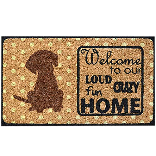 Ninamar Natural Coir Welcome Door Mat – 29.5 x 17.5 inch