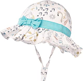 3a352b7fd87ff7 Toddler Baby Girls Sun Hats for Summer Sun Protection Beach Hat for Kids  0M-6T