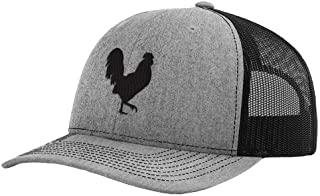 Custom Baseball Cap Rooster Shadow Cock Silhouette Embroidery Polyester Mesh