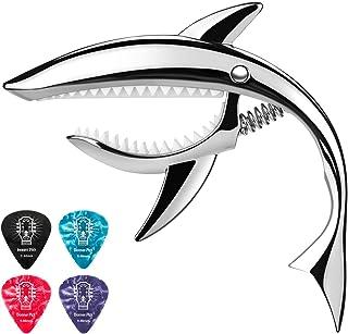 Donner Zinc Alloy Guitar Capo Shark Capo DC-4 for Ukulele, Mandolin, Electric Guitar and Bass, Silver