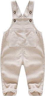 الرضع الطفل الفتيات عموما الصلبة كودري حللا أطفال الفتيات الصليب العودة قيعان رومبير 6M-4T (Color : Beige, Kid Size : 3T)