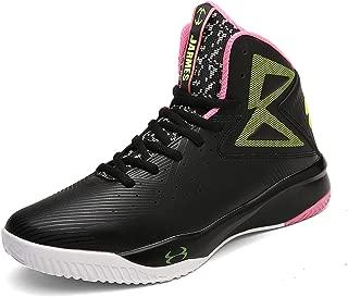 Hombre Mujer Zapatillas de Baloncesto Calzado Deportivo Al Aire Libre Moda High-Top Sneaker Antideslizante Zapatillas de Deporte Ligeros Zapatos para Correr Transpirable Lace UP