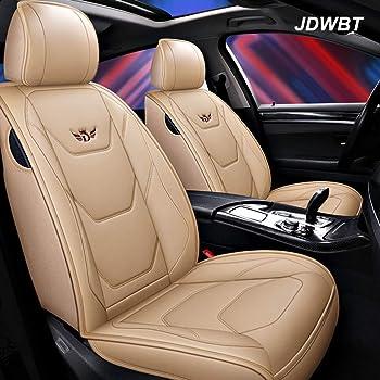 Walser 2 St/ück Universal Echt Leder Auto Sitzbez/üge schwarz f/ür Fast alle PKW f/ür Fahrersitz und Beifahrersitz