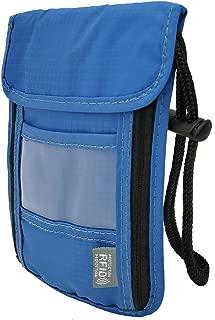 RFID Blocking Travel Neck Stash Pouch, Ultra Slim & Lightweight, Anti-Theft Credit Card, Money, Passport Holder, Concealed Wallet for Women & Men by Skyneter (Blue)