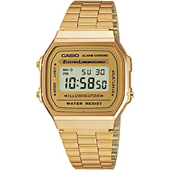 Casio Women's Watch in ResinStainless Steel Digital Display Fold Over Clasp and Automatic Calendar with Date