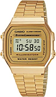 Casio Unisex Digital Dial Stainless Steel Watch - A168WG-9WDF