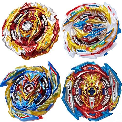 HUXICUI 4 Pieces BEY Burst Blade Battle Latest Set, Burst Battling Tops, Kids Boys Birthday Christmas Party Gift Idea
