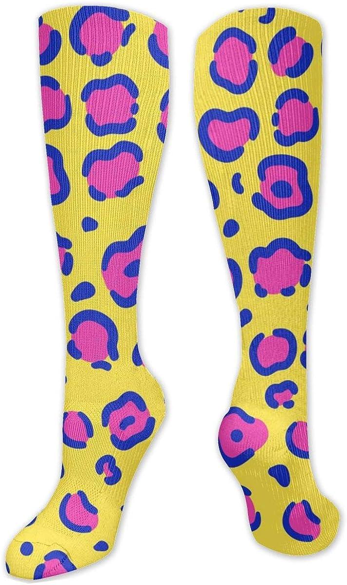 Giraffe Purple Skin Print Knee High Socks Leg Warmer Dresses Long Boot Stockings For Womens Cosplay Daily Wear