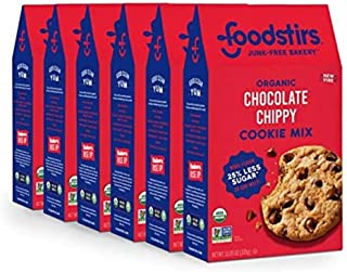 Foodstirs Junk-Free Bakery Organic Chocolate Chippy Cookie Baking Mix, 13.05 Oz | Non-GMO | Low Sugar (Pack of 6)