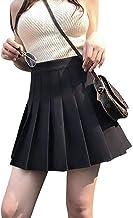 Purna Fashion Women's High Cotton Waist Flared Knit Skart Short