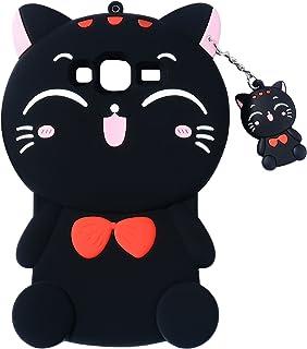 Black Cat Case for Samsung Galaxy On 5,Grand Prime Case,J2 Prime Lucky Cover,3D Cute Cartoon Animal Shell,Joyleop Kids Gir...
