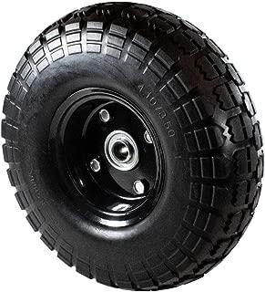 ALEKO WNF10 Anti Flat Replacement Turf Wheels for Wheelbarrow 10 Inches No Flat Tire Black