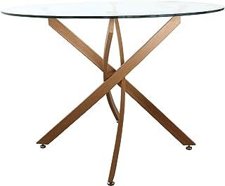 円形 ダイニングテーブル 110 ガラス 北欧風 カフェ風 幅110 ガラステーブル 2人 ガラスダイニングテーブル ダイニング カジュアル リビング テーブル かわいい おしゃれ