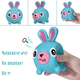 Elevin(TM)👍👍 Cute Squeeze Stress Tongues Alternative Humorous Light Hearted Funny Toy (Blue)
