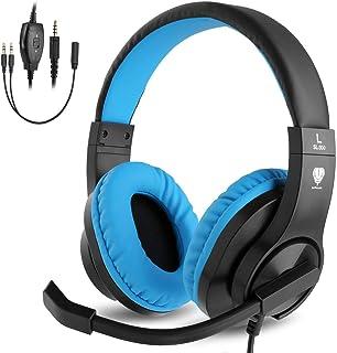 BlueFire PS4ゲーミング ヘッドセット 高音質 重低音ヘッドフォン 臨場感満ち 高集音性マイク付 SONY PS4/Nintendo Switch/Xbox One/タブレット/ノートパソコン/iPhoneスマートホン ゲーム などに対応 音量調整(ブルー)