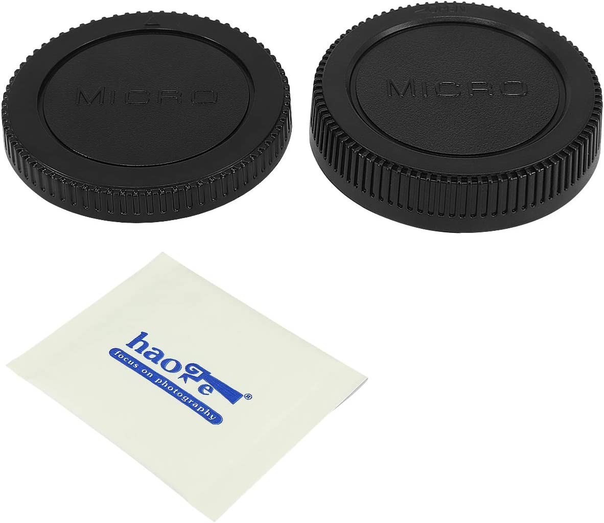 Haoge Camera Body Cap and Rear for Lens 5 ☆ very popular Max 48% OFF Cover Panaso Olympus