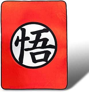 Dragon Ball Z Custom Goku Symbol Fleece Warm Blanket | 45 x 60 Inches