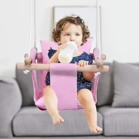 RedSuns Baby Swing Baby Cotton Hammock for Crib Detachable Portable Baby Swings for Infants Sleep Hanging Swing Toddler Hammock for Indoor /& Outdoor