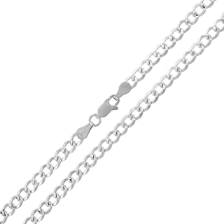 "Sponsored Ad - Authentic Solid Sterling Silver Cuban Curb Link Diamond-Cut .925 ITProLux Necklace Chains 2MM - 10.5MM, 16""..."