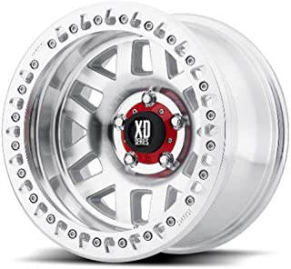 XD SERIES BY KMC WHEELS XD229 MACHETE CRAWL Wheel with MACHINED and Chromium (hexavalent compounds) (17 x 9. inches /8 x 125 mm, -38 mm Offset)