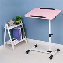 Cqq Folding Table Simple Modern Mobile Computer Desk Space Saving Assembly Lazy Rotating Laptop Table Bed Foldable Compute...