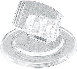 タカ印 ポップスタンド 34-997 カード立 丸スタンド型 透明 H23×直径40mm 5個