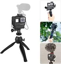 Artman Vlogging Setup Kit for GoPro - Vlogging Housing Case Frame + Mini Tripod Kit Vlogging Setup with Microphone Cold Shoe Mount for GoPro Hero 7/6/5 Action Camera Accessories(Without Microphone)