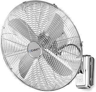 DEVANTi 40cm 16'' Metal Wall Fan Oscillating Remote Control Air Cooler Timer