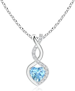 ANAZOZ Stainless Steel Collar Chain Flower Key Crystal Pendant Necklace for Unisex