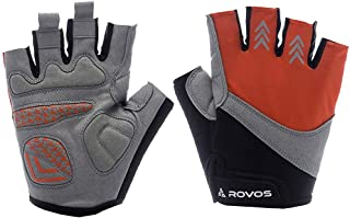 ROVOS Bike Gloves Men/Women Half Finger Breathable...